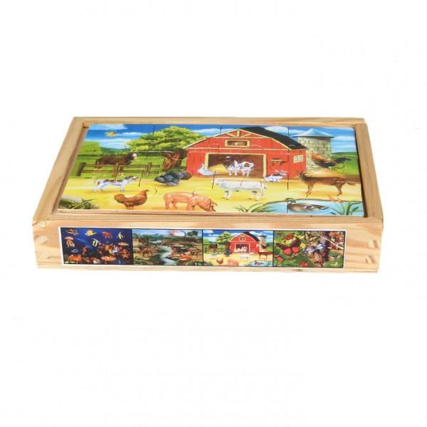 "Puzzle 4-teilig ""Bauernhof & Co."""