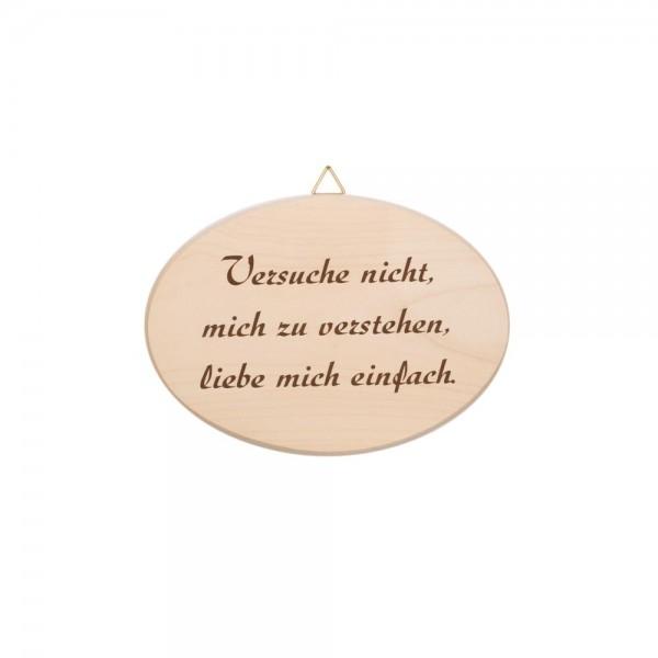 """Spruchbrett """"Liebe mich einfach"""""""