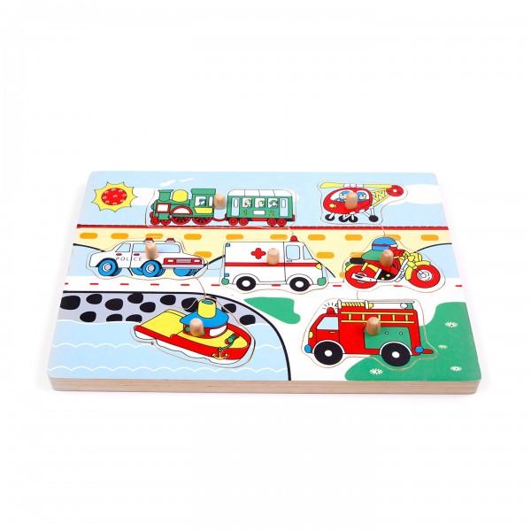 """Geräusche-Puzzle """"Verkehr"""" 7-teilig"""