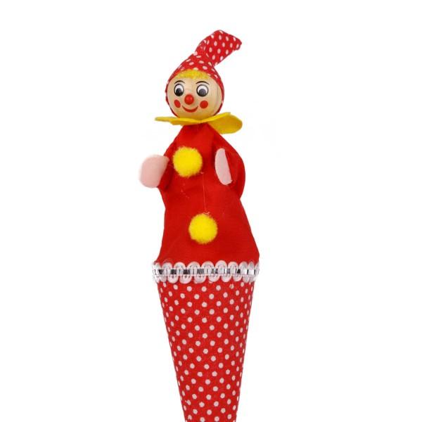 Tütenkasper Clown rot