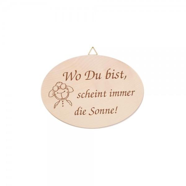 """Spruchbrett """"Wo Du bist…"""""""