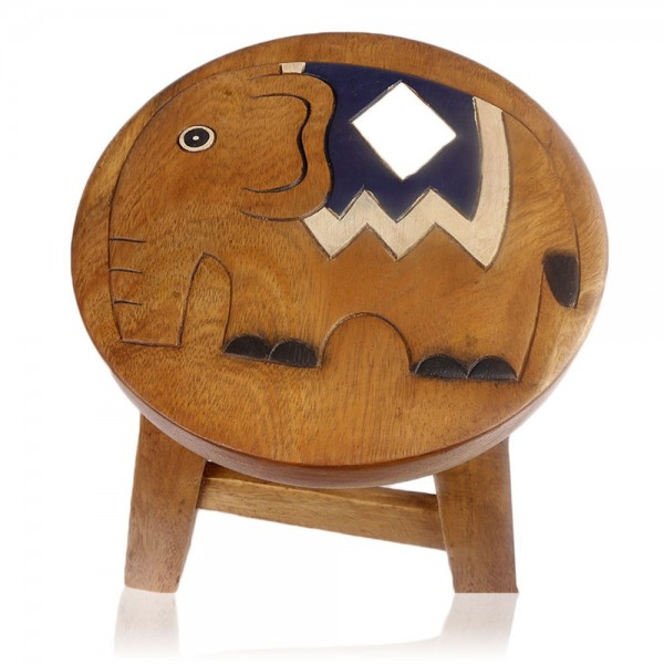 "Hocker ""Elefant bemalt"""