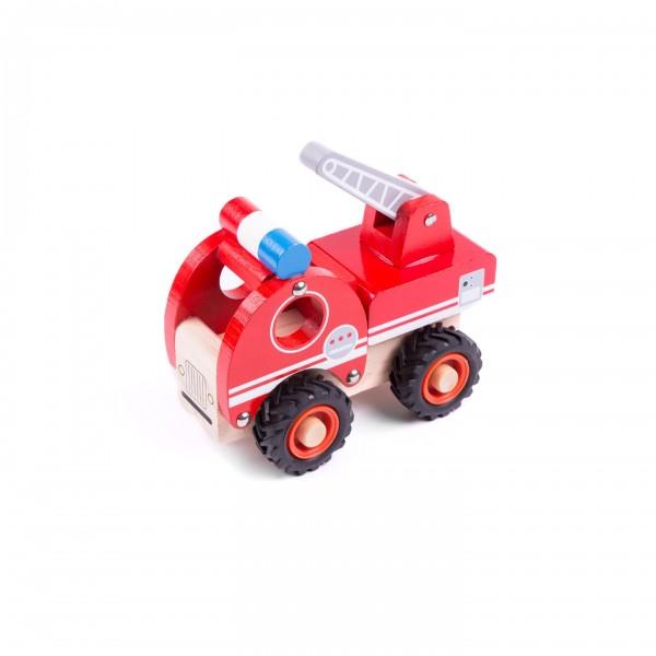 Kleiner Feuerwehrwagen mit Leiter