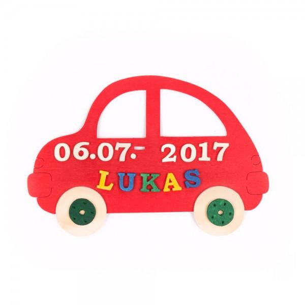 """Türschilder """"Auto"""" mit Namen und Datum"""
