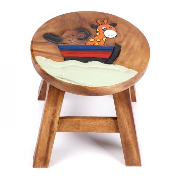"Hocker ""Elefant mit Giraffe im Boot"""