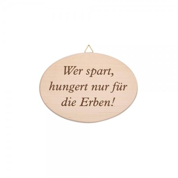 """Spruchbrett """"Wer spart…"""""""