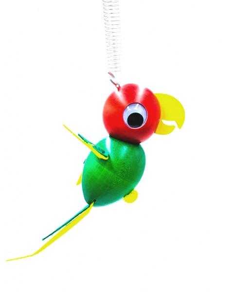 """Schwingfigur """"Papagei"""" grün"""