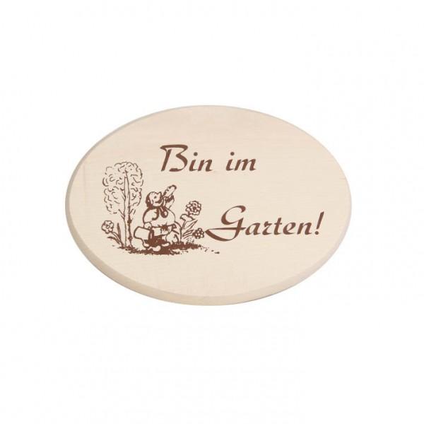 """Spruchbrett """"Bin im Garten"""""""