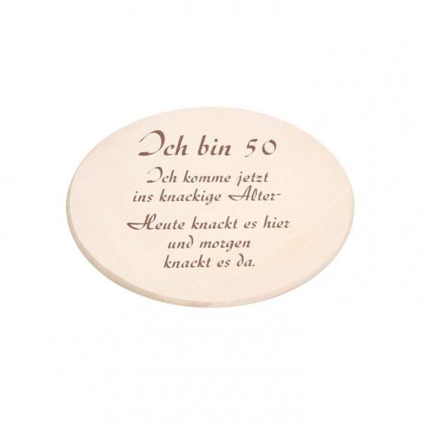 """Spruchbrett """"Ich bin 50"""""""