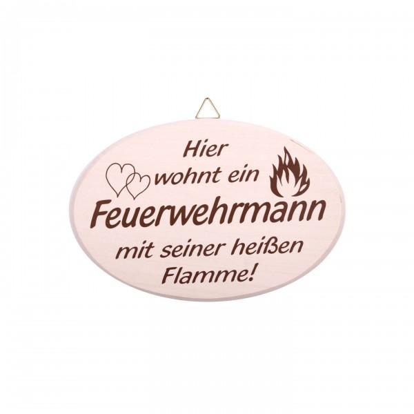 """Türschild """"Feuerwehrmann"""""""