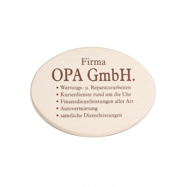 "Spruchbrett ""Opa GmbH"""