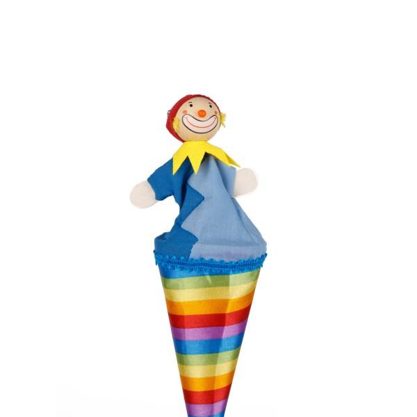 Tütenkasper Clown bunte Streifen