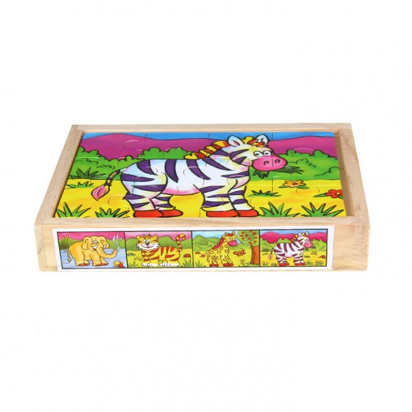 "Puzzle 4-teilig ""Zebra & Co."""