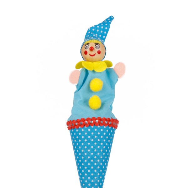 Tütenkasper Clown blau