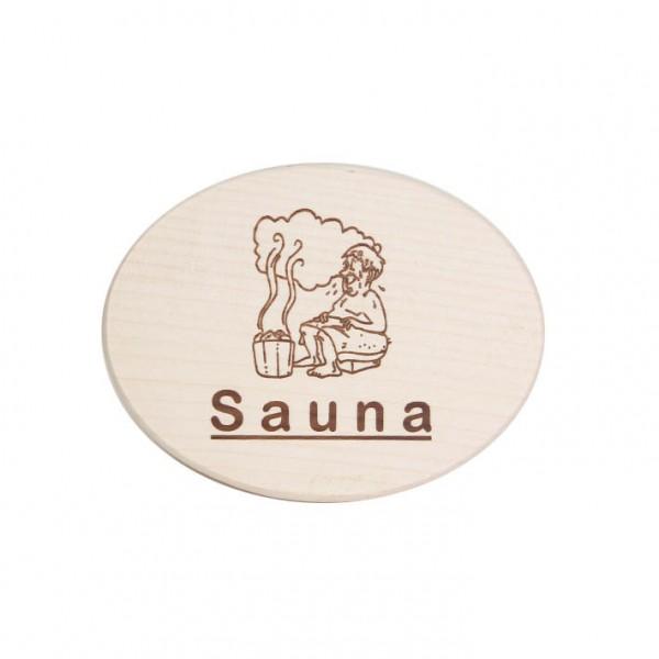 "Türschild ""Sauna"""
