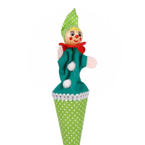 Tütenkasper Clown grün