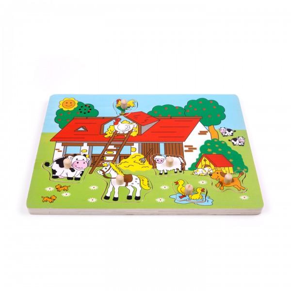 """Geräusche-Puzzle """"Bauernhof"""" 6-teilig"""
