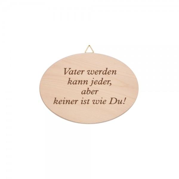 """Spruchbrett """"Vater werden…"""""""