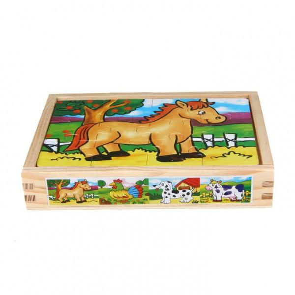 """Puzzle 4-teilig """"Pferd & Co."""""""