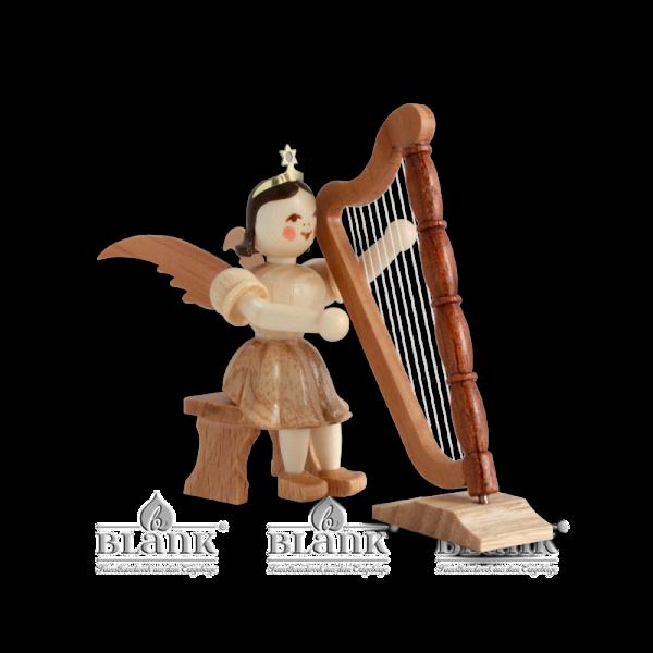 Kurzrockengel mit Harfe, sitzend