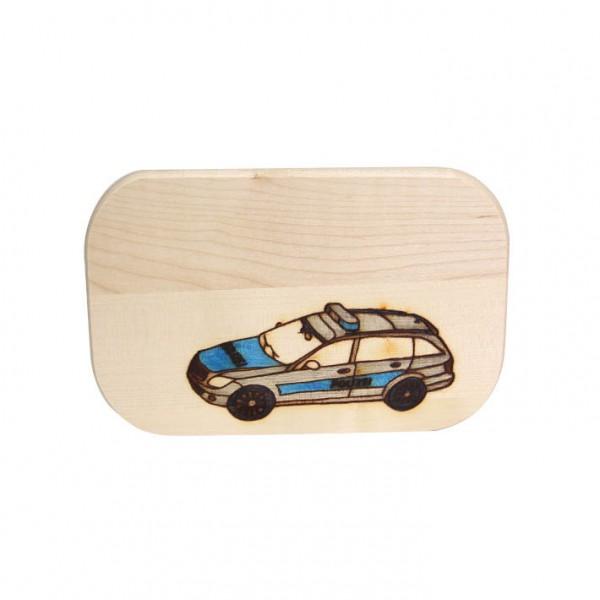 "Frühstücksbrett ""Polizeiauto"""